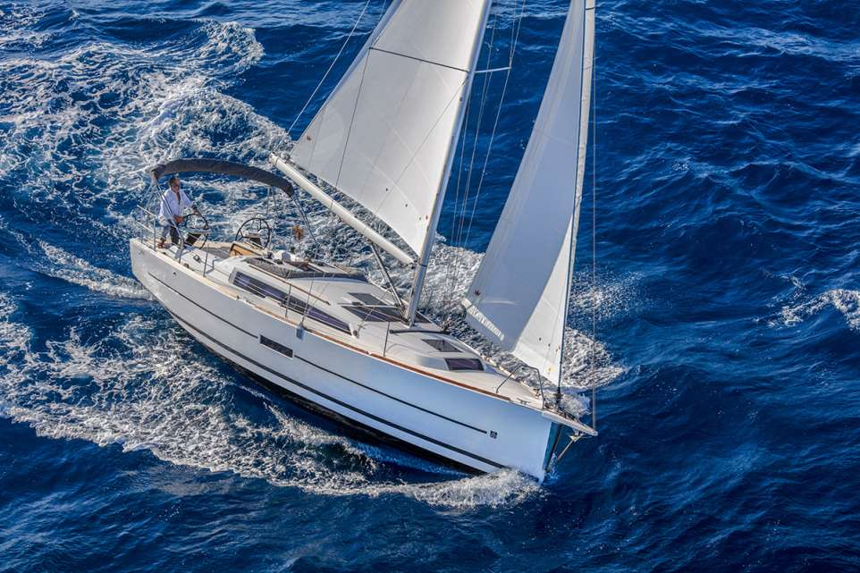 Dufour 360 sailing yacht in the Caribbean